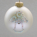 April Angel Ornament with Diamond Birthstone