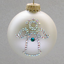 December Angel Ornament with Blue Zircon Birthstone