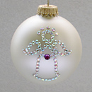 February Angel Ornament with Amethyst Birthstone