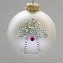 January Angel Ornament with Garnet Birthstone