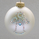 March Angel Ornament with Aquamarine Birthstone