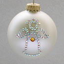 November Angel Ornament with Topaz Birthstone