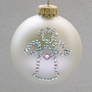 October Angel Ornament with Rose Zircon Birthstone