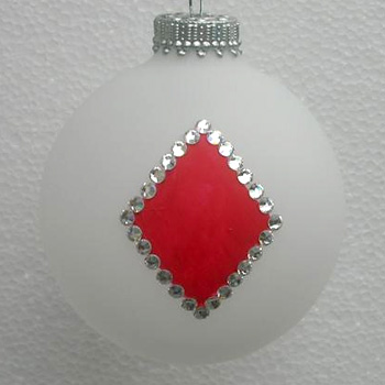 Poker and Bridge Playing Cards Suit of Diamonds Ornament