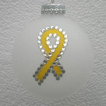 Support Our Troops Yellow Ribbon Ornament