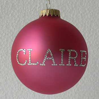 Candy Pink Personalized Ornament