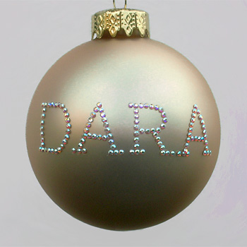 Champagne Personalized Ornament