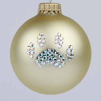Gold Paw Print Ornament