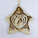 Nativity 5 Pointed Star Ornament