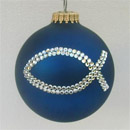 Navy Blue Double Ichthus Ornament